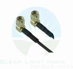 RF Cable Assemblies SMA Male Right Angle to SMA Male Right Angle in RG 174