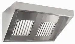 Stainless Steel Baffle SS Kitchen Chimney, Size: 48 X 30 X 24