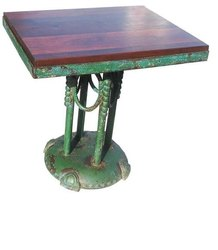 DIF-1421 Cast Iron Square Top Console Table