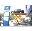 Hydro 4 Post Automobile Sector Scissors Type Car Lift