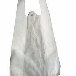 White Plain W Cut Non Woven Carry Bag, Size: 11 x 14 inch