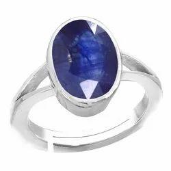Neelam Stone Ring Men and Women Silver Gemstone