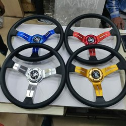 Black PVC Car Steering Wheel, For Automobile Industry, Round