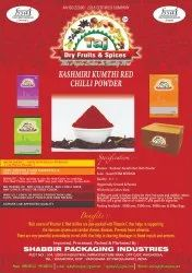 Taj Dry Fruits Spices Red Chilli Powder
