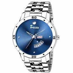 Silver Men Zesta Analog Watch, Model: Z02