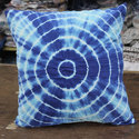 Round Dye N Dye Print Cushion Covers