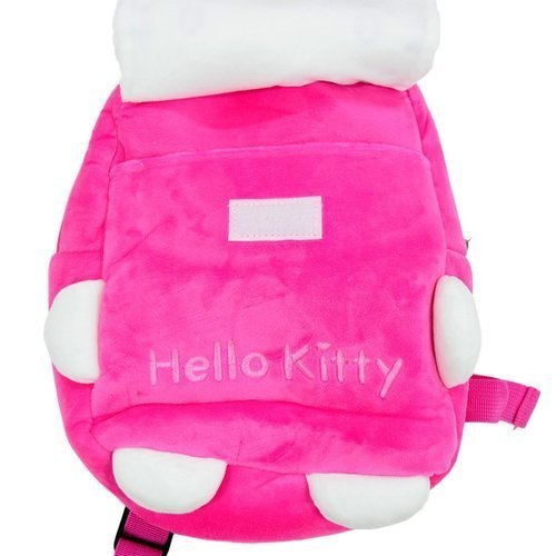 d08eb28093 Soft Cloth Pink And White Hello Kitty Soft Plush School Bag For Kids ...