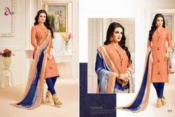 Collar Neck 3/4 Sleeve Padmini Salwar Suit