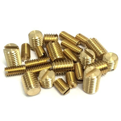 Brass Slotted Grub Screw, Size: M8 And 6BA