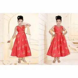 Chanderi Kids Traditional Churidar Suit