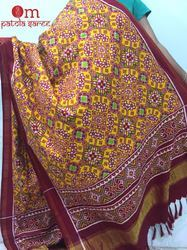Yellow Silk Patola Dupatta