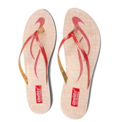 Women Red PVC Fashion Slippers