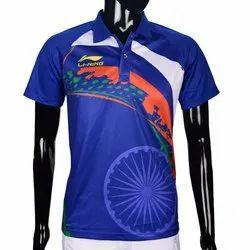 Blue Li-Ning Men's Olympics Polo T Shirt, Size: 2XS-3XL