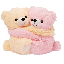 Pink, Yellow Teddy Bear Soft Toy