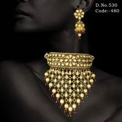 27c141e45 Fusion Party Kundan Choker Necklace Set
