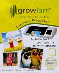 Growlam Laminating Pouch Film, Pack Size: 100 Pouch