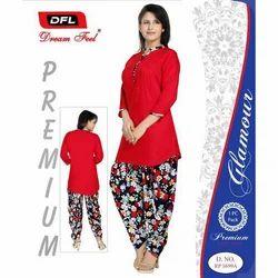 Cotton Patiyala Suit Salwar, Size: L