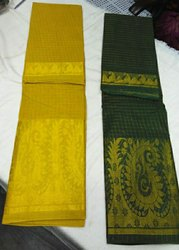 Casual Wear OSP Brand Madurai Cotton Zari Checks Big Border Saree