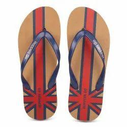 Hoppers Go Beige Men Rubber Hawai Slippers