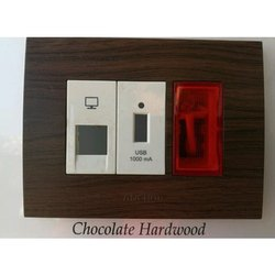 Anchor Chocolate Hardwood Electrical Switch
