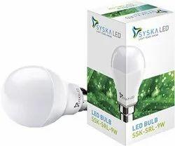 Syska 9WATT LED BULB B22 9W, For Indoor