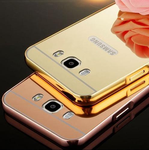 reputable site 42243 548d5 Samsung Galaxy J5 2016 Golden Mirror Back Cover With Bumper