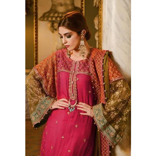 b1d2c10aa Chiffon Ladies Embroidered Fancy Pakistani Suit