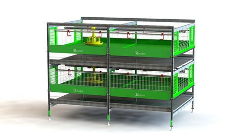 Broiler Chicken Rearing Cage