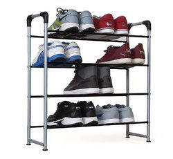 4 Layers Inclined Shoe Rack