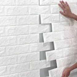 PE FOAM BRICK WALL STICKER