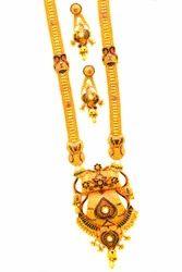 AquaGold916 Necklace 916 Hallmark - Beautiful Gold Raani Haar, Packaging Type: Poly Bag