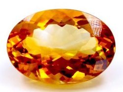 Oval Shape Loose Citrine Stone