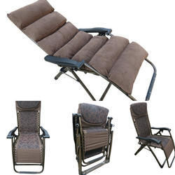 Folding Gravity Recliner Chair - 08C - With Cushion-Brown