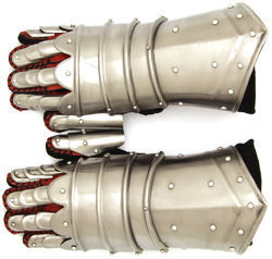 Medieval Warrior Metal Gothic Knight Style Gauntlets