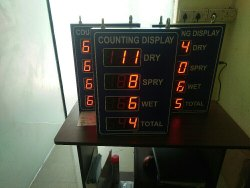 Counting display unit
