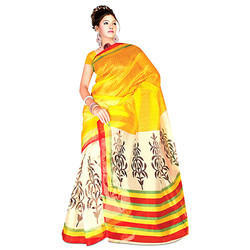 Yellow Kota Doria Saree