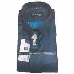 Mens Blue Full Sleeves Designer Shirt