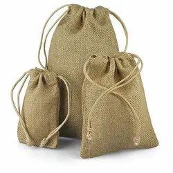 Plain Jute Drawstring Bag