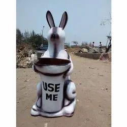 D 05 FRP Rabbit Dustbin