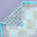 Cotton Handmde Pattern Summer Quilt Indian Block Print Queen Size Pink Colour Jaipuri Rajai