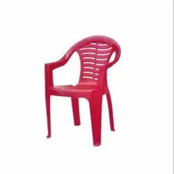 Red Indoor Plastic Chair