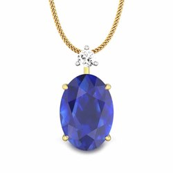Natural Blue Sapphire Pendant