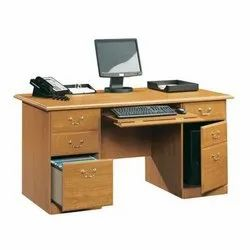 Brown Rectangular Wooden Drawer Table, for Office