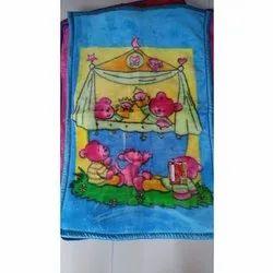 Baby Sky Blue Printed Blanket