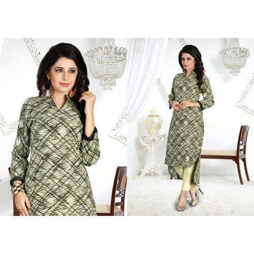 b0431d527d Medium And Large Green Ladies Cotton Kurti, Rs 650 /piece   ID ...