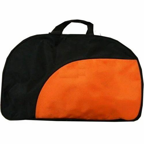 Polyester Black And Orange Duffel Travel Bag, Rs 250  piece   ID ... 9ae2cdff6c