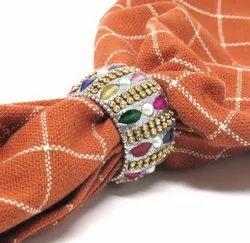 Designer Lac Glitter Napkin Rings & Holder