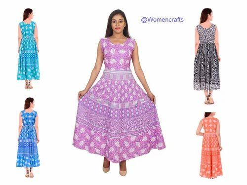 80b9bca6c6 Cotton Floral Printed Indian Mandala Print Women Long Kurti Handmade Party  Wear Dress