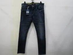 Mens Dark Blue Slim Fit Stretch Jeans(PW-013)