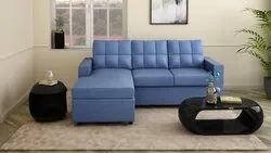 Modern Blue L Shaped Sofa Set, For Home, Size: W X H X D (cm) 191.5 X 86 X 85
